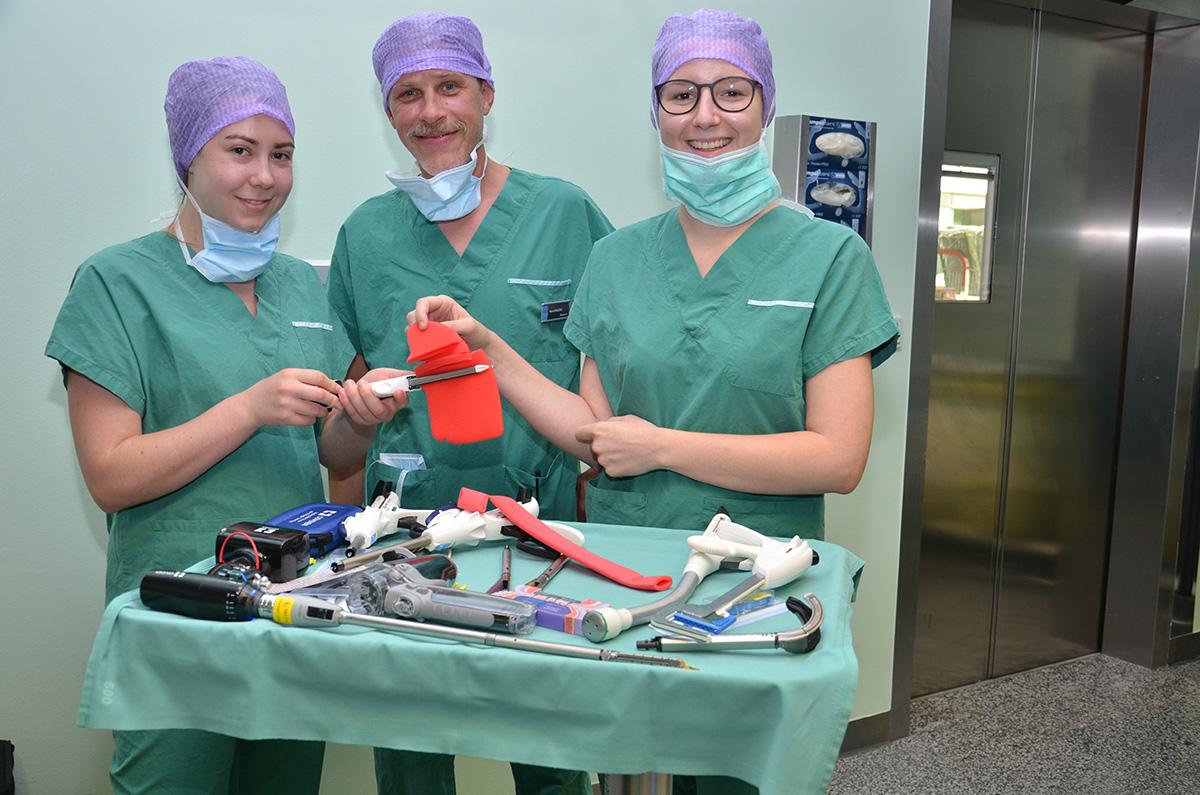 OP-Schulung im Rahmen der MedSummerSchool in Horn