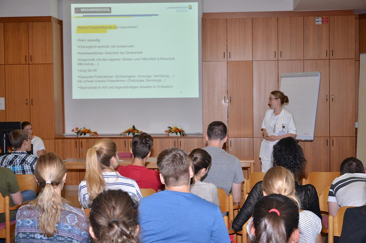 Vortrag im Rahmen der MedSummerSchool in Horn
